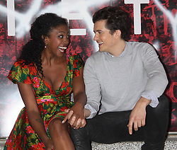 07.08.2013, Richard Rodgers Theatre, Broadway, New York City, USA, Fototermin mit Orlando Bloom und Condola Rashad fuer Romeo und Jula, im Bild Condola Rashad, and Orlando Bloom // during a photocall with Orlando Bloom and Condola Rashhad for Romeo and Julia at the Richard Rodgers Theatre on Broadway in New York City, United States of Amerika on 2013/08/07 . EXPA Pictures © 2013, PhotoCredit: EXPA/ Newspix/ MediaPunch Inc<br /> <br /> ***** ATTENTION - for AUT, SLO, CRO, SRB, BIH, TUR, SUI and SWE only *****