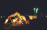 Turkish Roma living in tents on the outskirts of Istanbul, recycling scrap to make a living. Kagithane, Istanbul Turkey<br /><br />Roma Gypsies living across Turkey and Greece. In Istanbul and Edirne many Roma recycle rubbish and scrap metal. Some sell flowers in the street or work as casual agricultural labourers in the fields. Families are sometimes living in slums facing eviction as gentrification of their areas pushes them away, others live in tents and travel where they find work. Turkey and Greece