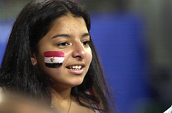 23-09-2000 AUS: Olympic Games Volleybal Nederland - Egypte, Sydney<br /> Nederland wint met 3-1 van Egypte / Support Egypte publiek