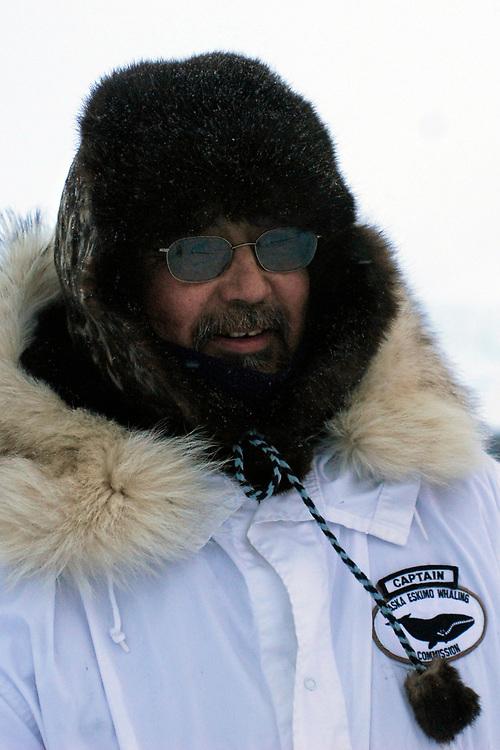 Barrow, Alaska. Chuck Hopson at Simmeon Patkotat's whaling camp. May 2007.