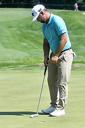 July 13, 2018 - Silvis, Illinois, U.S. - SILVIS, IL - JULY 13: Ryan Moore taps in a short putt on the 31 green  during the second round of the John Deere Classic on July 13, 2018, at TPC Deere Run, Silvis, IL.  (Photo by Keith Gillett/Icon Sportswire) (Credit Image: © Keith Gillett/Icon SMI via ZUMA Press)