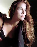 A female model at a fashion shoot