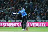 Sussex's Jofra Archer during the final of the Vitality T20 Finals Day 2018 match between Worcestershire rapids and Sussex Sharks at Edgbaston, Birmingham, United Kingdom on 15 September 2018.