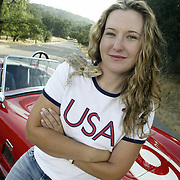 Kim Rhode, olympian in shooting, has an iguana and a bearded dragon as pets. She also restores her own cars and built the Cobra in the photos. This will be her third Olympics...Photos © Todd Bigelow/Aurora