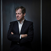 Alastair Campbell the former Labour Party spin doctor in Glasgow to promote his latest book.  Picture Robert Perry 10th March 2015<br /> <br /> Must credit photo to Robert Perry<br /> FEE PAYABLE FOR REPRO USE<br /> FEE PAYABLE FOR ALL INTERNET USE<br /> www.robertperry.co.uk<br /> NB -This image is not to be distributed without the prior consent of the copyright holder.<br /> in using this image you agree to abide by terms and conditions as stated in this caption.<br /> All monies payable to Robert Perry<br /> <br /> (PLEASE DO NOT REMOVE THIS CAPTION)<br /> This image is intended for Editorial use (e.g. news). Any commercial or promotional use requires additional clearance. <br /> Copyright 2014 All rights protected.<br /> first use only<br /> contact details<br /> Robert Perry     <br /> 07702 631 477<br /> robertperryphotos@gmail.com<br /> no internet usage without prior consent.         <br /> Robert Perry reserves the right to pursue unauthorised use of this image . If you violate my intellectual property you may be liable for  damages, loss of income, and profits you derive from the use of this image.