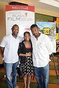 l to r: Jeff Friday, Guest and Robert Townsend at The Master Class with John Singleton during the The 2009 American Black Film Festival held at The Ritz-Carlton in Miami Beach on June 27, 2009 ..