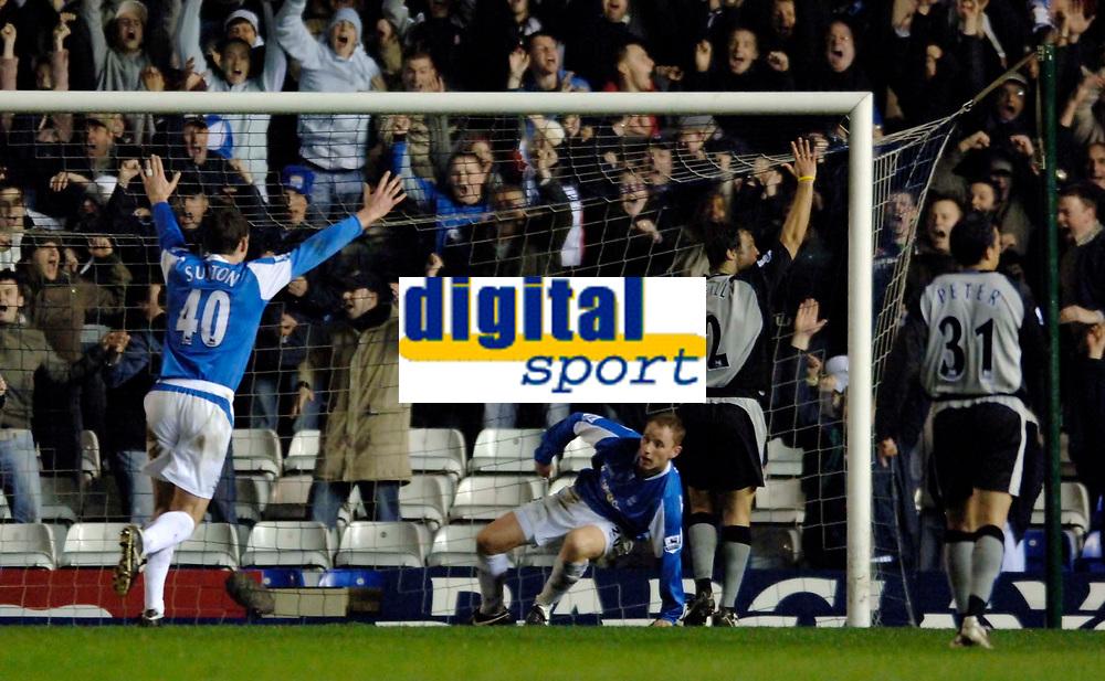 Photo: Glyn Thomas.<br />Birmingham City v Blackburn Rovers. The Barclays Premiership. 19/04/2006.<br /> Birmingham's Nicky Butt (C) gives his team a 1-0 lead.