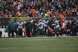 The Philadelphia Eagles lose 32-10 to the Cincinnati Bengals at Paul Brown Stadium on December 4, 2016 in Cincannati, Pennsylvania.  (Photo by Drew Hallowell/Philadelphia Eagles)