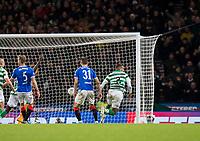 Football - 2019 Betfred Scottish League Cup Final - Celtic vs. Rangers<br /> <br /> Christopher Jullien of Celtic scores to make it 1-0, Hampden Park Glasgow.<br /> <br /> COLORSPORT/BRUCE WHITE