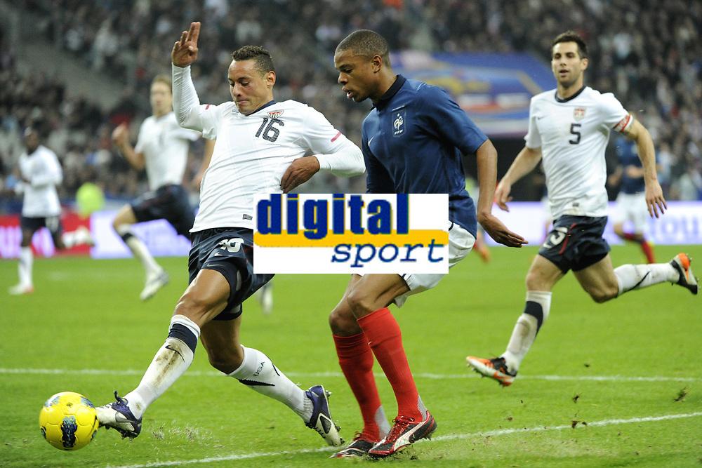 FOOTBALL - INTERNATIONAL FRIENDLY GAMES 2011/2012 - FRANCE v USA - 11/11/2011 - PHOTO JEAN MARIE HERVIO / DPPI - JERMAINE JONES (USA) / LOIC REMY (FRA)