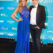 NLD/Amsterdam//20140331 - Uitreiking Edison Pop 2014, Kim Kotter en partner Jaap Reesema