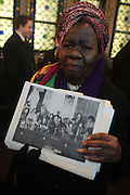 6 January 2010- New York,  NY- Queen Mother Dr. Delois Blakely at the Percy Ellis Sutton Funeral held at The Riverside Church on January 6, 2010 in New York City. Photo Credit: Terrence Jennings/Sipa