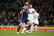 Scotland forward James Forrest (7) (Celtic) scores his hatrick 3-1 during the UEFA Nations League match between Scotland and Israel at Hampden Park, Glasgow, United Kingdom on 20 November 2018.