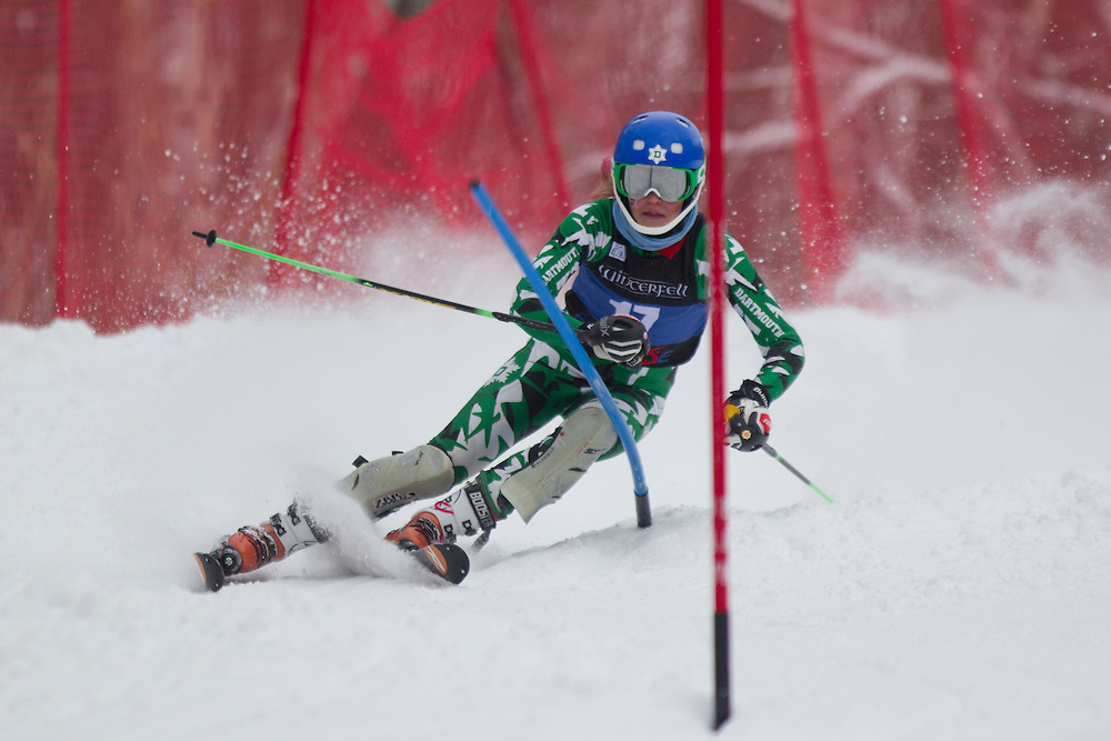 Anne Strong of Dartmouth College, skis during the first run of the women's slalom at Jiminy Peak on February 14, 2014 in Hancock, MA. (Dustin Satloff/EISA)