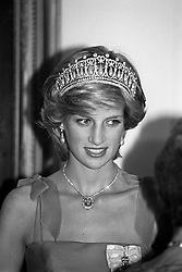 The Princess of Wales at a Government House reception in Ottawa, Canada