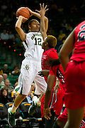 WACO, TX - DECEMBER 18: Alexis Prince #12 of the Baylor Bears brings the ball up court against the Mississippi Lady Rebels on December 18 at the Ferrell Center in Waco, Texas.  (Photo by Cooper Neill) *** Local Caption *** Alexis Prince