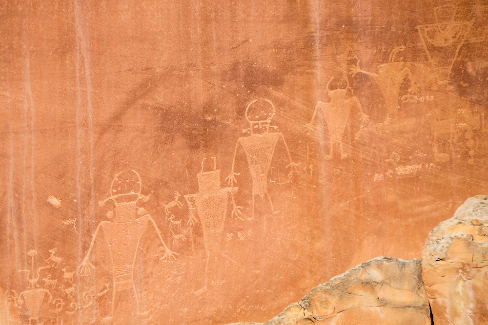 A beautiful petroglyph panel made by the Fremont culture.