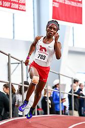 David Hemery Valentine Invitational<br /> Indoor Track & Field at Boston University , womens 200 meters, heat 3, Cornell,