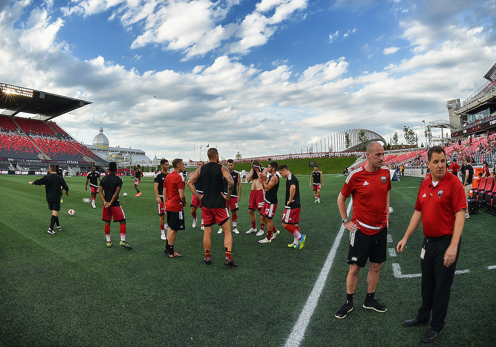 July 27, 2015: NASL match between the Ottawa Fury FC and Carolina Railhawks at TD Place Stadium in Ottawa, ON. Canada on July 27, 2016. The Fury recording a 2-0 win.<br /> <br /> PHOTO: Steve Kingsman/Freestyle Photography