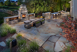 19595 Aberlour rear exterior landscaping Outdoor fireplace VA2_229_899 Invoice_3987_9595_Aberlour