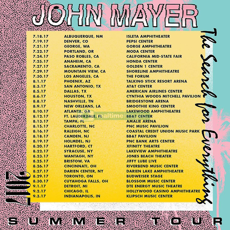 """John Mayer releases a photo on Instagram with the following caption: """"Summer tour! The name of the game is FUN. Picture this: you have an afternoon BBQ, living that amphibious life...then you nap, shower, climb into soft clean clothes and head out with your friends to sing and dance under the stars* while my friends and I have the time I our lives playing for you. Full band! Acoustic! Trio! Bring the love of your life! Or maybe you'll meet them at the show! It's really your business to conduct as you see fit! Tickets at johnmayer.com. *stars not visible at arena shows"""". Photo Credit: Instagram *** No USA Distribution *** For Editorial Use Only *** Not to be Published in Books or Photo Books ***  Please note: Fees charged by the agency are for the agency's services only, and do not, nor are they intended to, convey to the user any ownership of Copyright or License in the material. The agency does not claim any ownership including but not limited to Copyright or License in the attached material. By publishing this material you expressly agree to indemnify and to hold the agency and its directors, shareholders and employees harmless from any loss, claims, damages, demands, expenses (including legal fees), or any causes of action or allegation against the agency arising out of or connected in any way with publication of the material."""