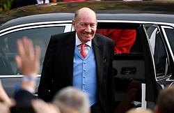 George Brooksbank arrives for the wedding of Princess Eugenie and Jack Brooksbank at St George's Chapel in Windsor Castle, Windsor.