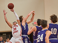 Brentwood Academy boys downed Father Ryan 46-44 at home Tuesday, January 21, 2020.<br /> Photo: Harrison McClary/All Tenn Sports