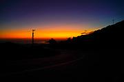 Amazing, awe inspiring Yellow blue and purple sunset. Photographed on the Island of Cephalonia, Ionian Sea, Greece