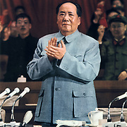 Mao Tse-Tung (Mao Zedong) 1893-1976, Chinese Communist leader. Mao addressing a meeting.