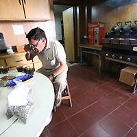 José René Ramírez, coffee cupper at the UCRAPROBEX laboratory in San Salvador. UCRAPROBEX a certified Fairtrade producer based in El Salvador.