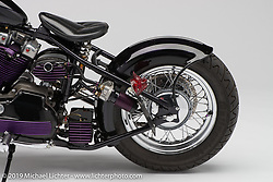 Purple Haze, built from a1970 Ironhead Sporty by Nightmare of Nightmare Custom Cycles in South Carolina. Photographed by Michael Lichter in Columbus, OH on 2/11/18. ©2018 Michael Lichter.