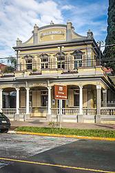 Casa das Artes Villa Mimosa, um dos prédios mais antigos da zona urbana de Canoas. Tombado como patrimônio histórico municipal em 2009, o local foi posteriormente restaurado na primeira gestão do atual Governo Municipal, constituindo-se no primeiro centro cultural público do Município. FOTO: André Feltes/ Agência Preview