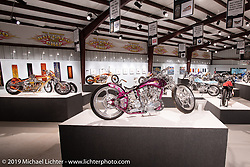 Ken's Factory Ken Nagai's DL (Downlow) 93ci S&S custom from Nagoya, Japan in the What's the Skinny Exhibition (2019 iteration of the Motorcycles as Art annual series) at the Sturgis Buffalo Chip during the Sturgis Black Hills Motorcycle Rally. SD, USA. Thursday, August 8, 2019. Photography ©2019 Michael Lichter.