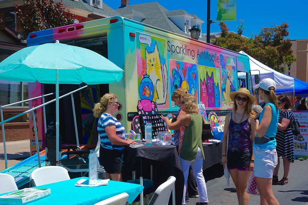 Art mobile, West Reading Art Fest, Berks Co., PA
