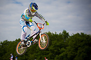 #33 (GEORGE Dani) USA at the UCI BMX Supercross World Cup in Papendal, Netherlands.