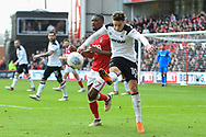 Derby County midfielder Tom Lawrence (10) during the EFL Sky Bet Championship match between Nottingham Forest and Derby County at the City Ground, Nottingham, England on 11 March 2018. Picture by Jon Hobley.