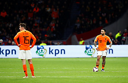 March 24, 2019 - Amsterdam, France - Netherlands' Memphis Depay reacts after conceding their third goal scored by Germany's Nico Schulz (Credit Image: © Panoramic via ZUMA Press)