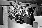 10/05/1962<br /> 05/10/1962<br /> 10 May 1962<br /> Edward Dillon and Co Ltd., stand at the French Food and Wine Exhibition at the Building Centre, Baggot Street Dublin. Mr Vincent Lanson, head of the champagne firm of Lanson Pere et Fil, samples his own product at the Edward Dillon stand.
