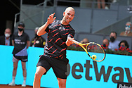 Adrian Mannarino of France during the Mutua Madrid Open 2021, Masters 1000 tennis tournament on May 3, 2021 at La Caja Magica in Madrid, Spain - Photo Laurent Lairys / ProSportsImages / DPPI