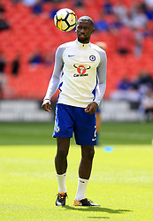 """Chelsea's Antonio Rudiger before the Community Shield at Wembley, London. PRESS ASSOCIATION Photo. Picture date: Sunday August 6, 2017. See PA story SOCCER Community Shield. Photo credit should read: Nigel French/PA Wire. RESTRICTIONS: EDITORIAL USE ONLY No use with unauthorised audio, video, data, fixture lists, club/league logos or """"live"""" services. Online in-match use limited to 75 images, no video emulation. No use in betting, games or single club/league/player publications."""