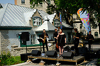 """In contrast to France, the city of Quebec is very favorable to street performances.<br /> Everything is done to help them.<br /> <br /> Algonquian people had originally named the area Kébec, meaning """"where the river narrows"""", because the Saint Lawrence River narrows proximate to the promontory of Quebec and its Cape Diamant. <br /> Explorer Samuel de Champlain founded a French settlement here in 1608, and adopted the Algonguin language term. Quebec City is one of the oldest European cities in North America. <br /> The ramparts surrounding Old Quebec are the only fortified city walls remaining in the Americas north of Mexico. <br /> This area was declared a World Heritage Site by UNESCO in 1985 as the """"Historic District of Old Québec""""."""