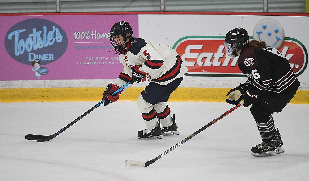 PITTSBURGH, PA - SEPTEMBER 27: at Colonials Arena on September 27, 2019 in Pittsburgh, Pennsylvania. (Photo by Justin Berl/RMU Athletics)