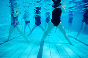The fact that you weigh only ten percent of your body weight while in water makes underwater aerobics a great low-impact exercise. This class is part of Luye Lui's Aquafit program.