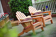 Adirondack Chairs with Designer Pillows