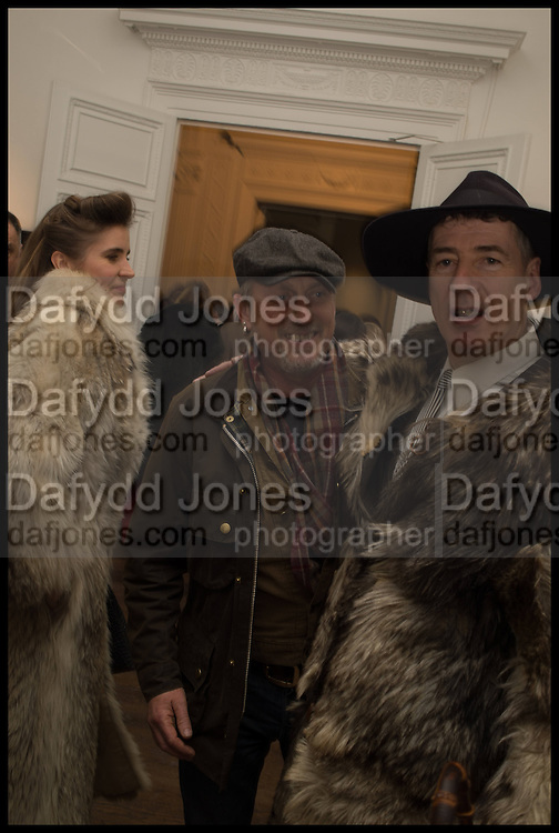 ELINOR FAHRMAN; GARY CHAPMAN; GAZ MAYALL;, Private view, Paul Simonon- Wot no Bike, ICA Nash and Brandon Rooms, London. 20 January 2015