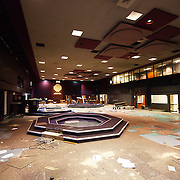 Dead trading floor at the Kansas City Board of Trade over a year after cease of trading operations after acquisition by CME Group.