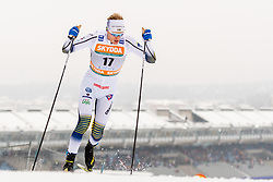 February 9, 2019 - Lahtis, FINLAND - 190209  Oskar Svensson of Sweden competes in the men's sprint qualification during the FIS Cross-Country World Cup on February 9, 2019 in Lahti..Photo: Johanna Lundberg / BILDBYRN / 135947 (Credit Image: © Johanna Lundberg/Bildbyran via ZUMA Press)