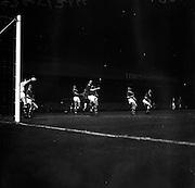 08/04/1964<br /> 04/08/1964<br /> 08 April 1964<br /> European Nations Cup second leg: Ireland v Spain at Dalymount park, Dublin.  Spain beat Ireland 2-0 in the second leg of the European Nations Cup.
