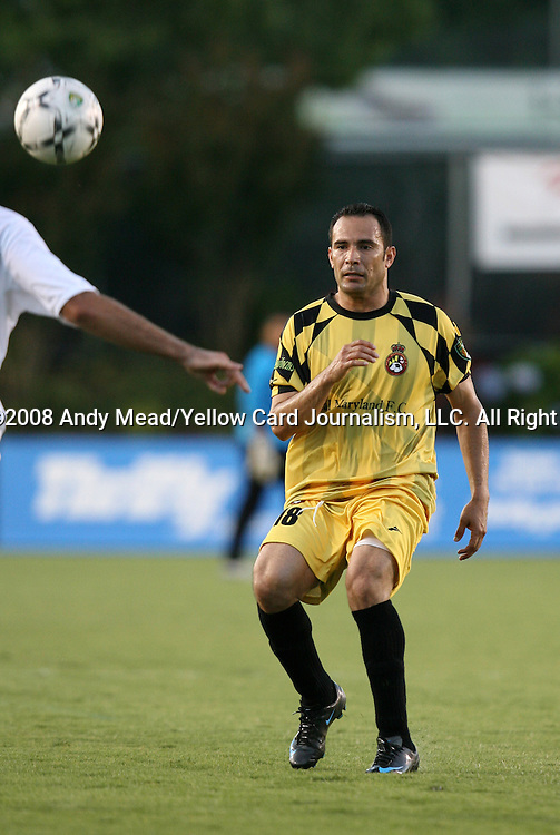 24 June 2008: Maryland's Nilson Perez (COL). The United Soccer Leagues Division 1 Carolina Railhawks defeated the USL Division 2 Real Maryland F.C. Monarchs 1-0 at WakeMed Stadium in Cary, NC in a second round game in the 2008 Lamar Hunt U.S. Open Cup.
