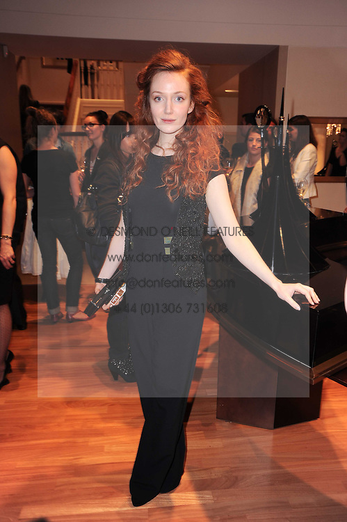 Actress OLIVIA GRANT at a party to celebrate the B.zero 1 design by Anish Kapoor held at Bulgari, 168 New Bond Street, London n 2nd June 2010.